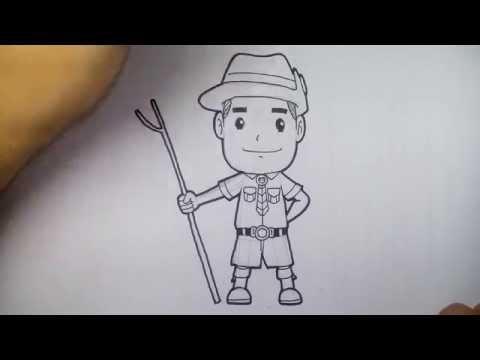 การ์ตูน ลูกเสือ สามัญ วาดการ์ตูน กันเถอะ สอนวาดรูป การ์ตูน