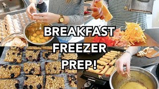 BREAKFAST FREEZER MEAL PREP! | 3 EASY LARGE FAMILY RECIPES