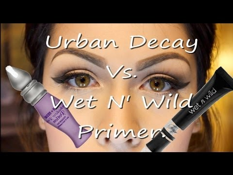 Urban Decay Vs Wet N Wild Eyeshadow Primer Youtube