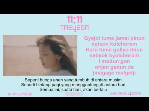 TAEYEON  11:11 MV, EASY LYRIC, LIRIK INDONESIA