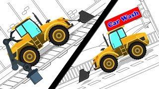Bulldozer | Car Garage | Car Wash | Construction Vehicle
