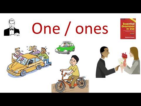 Слова заменители ONE/ONES, как их правильно применять на практике. - Видео онлайн