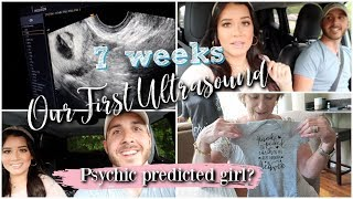OUR FIRST ULTRASOUND! + A Psychic Predicted a Girl!?! (Reading Recording Footage)