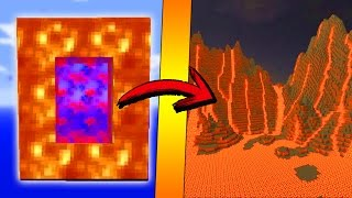 minecraft como hacer un portal a la dimension de lava como hacer un portal de lava