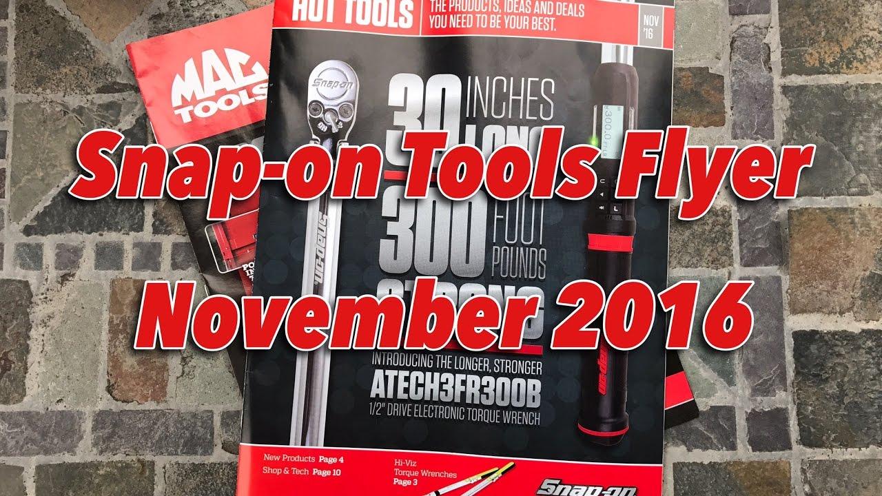 Snap-on Tools Flyer - November 2016