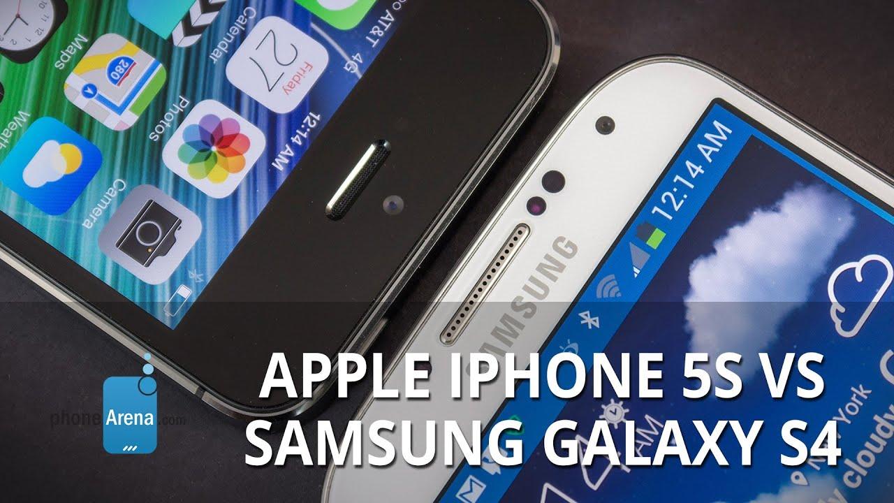 Apple Iphone 5s Vs Samsung Galaxy S4 Youtube