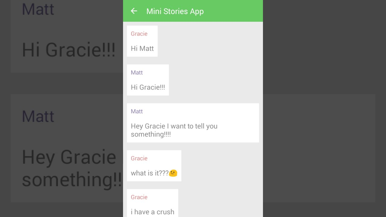 gracie hatchak and mattyb chat story fan made youtube