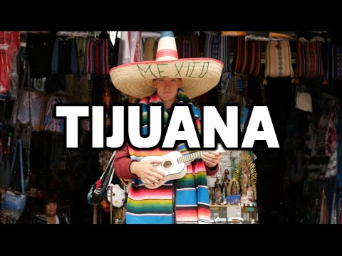 TIJUANA MEXICO - Walking across the Border!