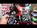 How to install remote control LED Parking Lights with T10 RGB LED LIGHTS In bajaj v15/all bikes