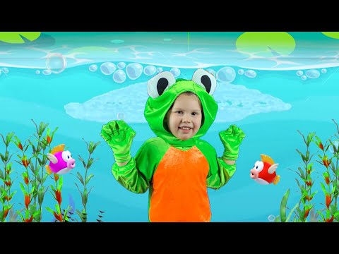 Five little speckled Frogs Kids song Agnes Stories