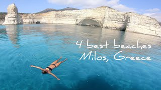 Sailing to the 4 BEST beaches MILOS | Amazing GREEK ISLANDS! | Sailing Greece