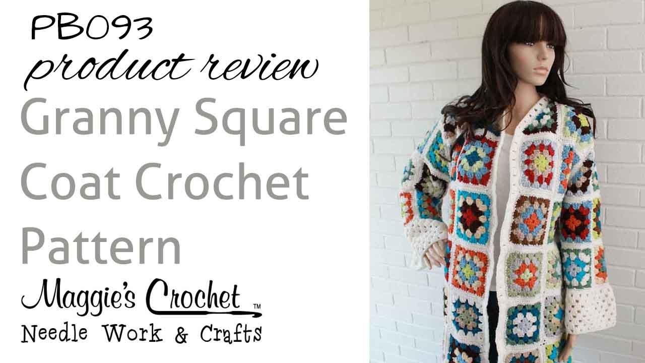 ad8a54b5d52bd7 Granny Square Coat Product Review PB093 - YouTube