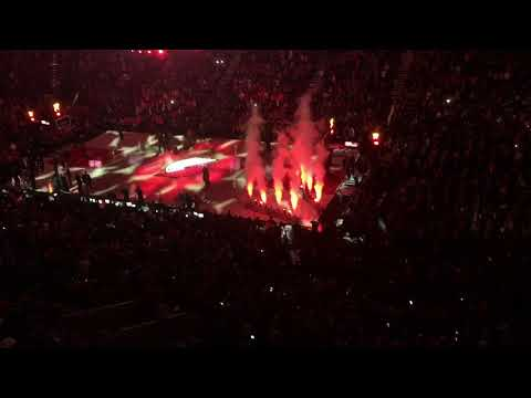Team Introductions, Opening Night at the Moda Center