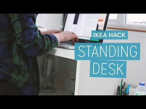 Ikea Hack: DIY Standing Desk  | CharliMarieTV
