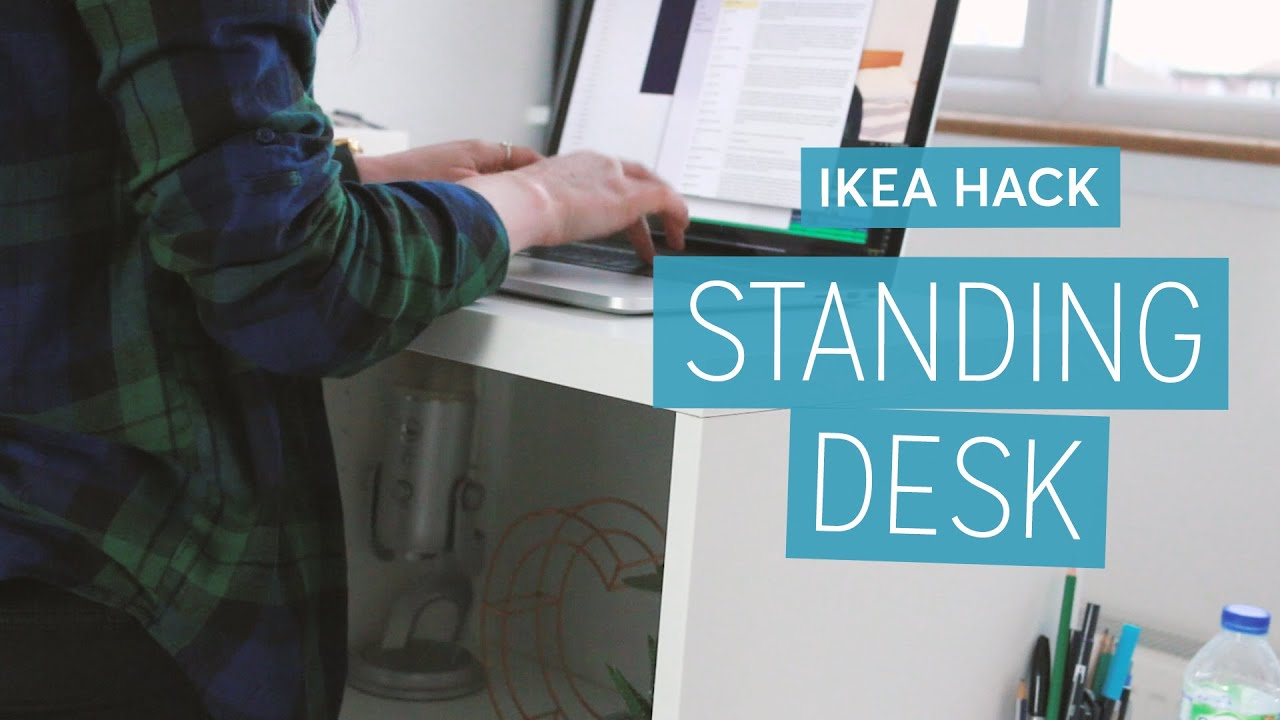 Ikea Hack: DIY Standing Desk | CharliMarieTV - YouTube