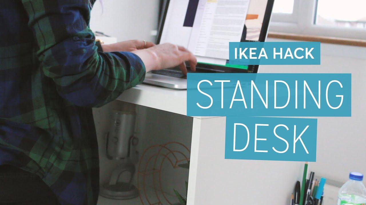 Ikea Hack: DIY Standing Desk | CharliMarieTV - YouTube