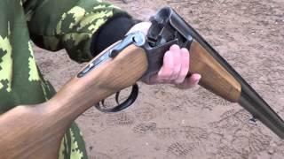 ИЖ-27М Стрельба дуплетом.