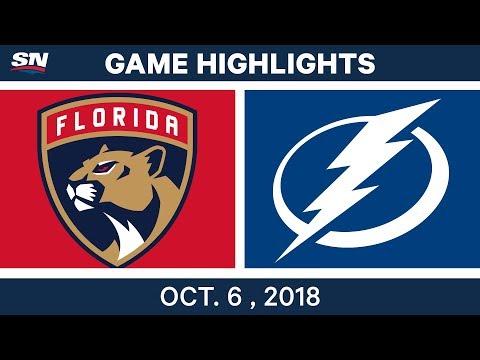 NHL Highlights | Panthers vs. Lightning - Oct. 6, 2018