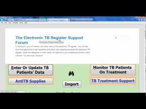 how to register and post a question on the electronic TB register forum.avi