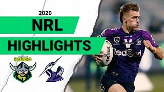 Raiders v Storm | Round 9 2020 | Telstra Premiership | NRL