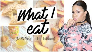 WHAT I EAT IN A DAY! NON-VEGAN + NOT HEALTHY (SEMI-HEALTHY) COLLAB WITH PAGE DANIELLE