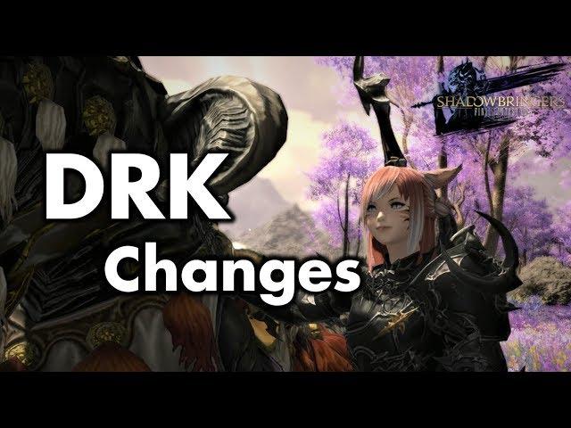 FFXIV - Shadowbringers - Dark Knight abilities & changes