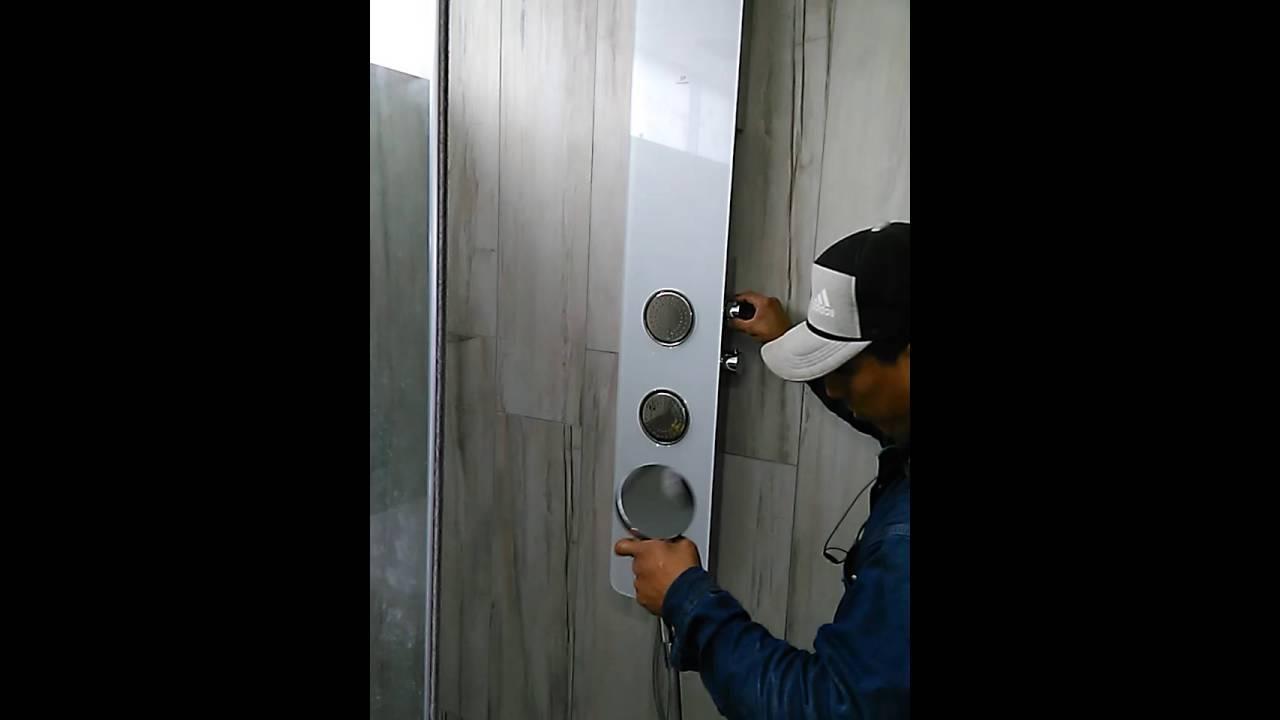 Instalacion y funcionamiento de columna de ducha youtube for Columnas de ducha