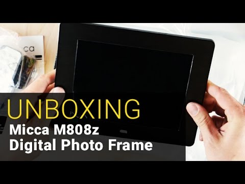 Micca Natural View Digital Photo Frame - UNBOXING - Out of the Box ...