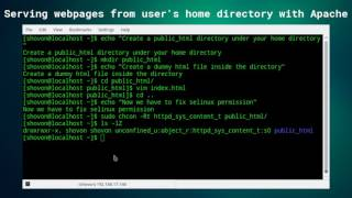 Serve Webpages from User's Home Directory with Apache on CentOS 7 (SElinux Version))