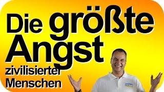 Die größte Angst zivilisierter Menschen. Selbstbewusstseinstrainer Matthias Schwehm im Livestream.