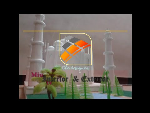 3d Model Of Taj Mahal With Thermocol