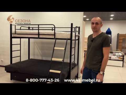 Двухъярусная кровать-диван Дакар видеообзор