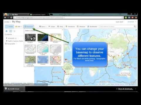 ArcGIS Online Using Live Data from USGS