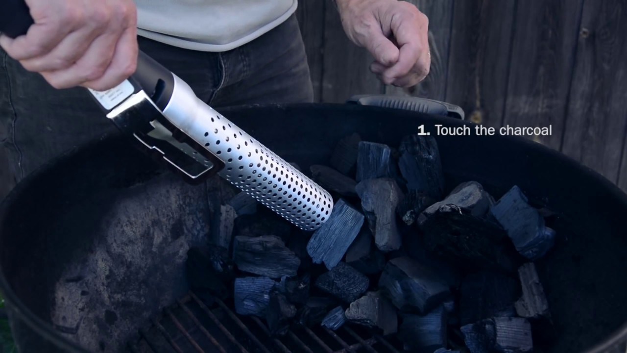 how to light your charcoal with the looftlighter youtube