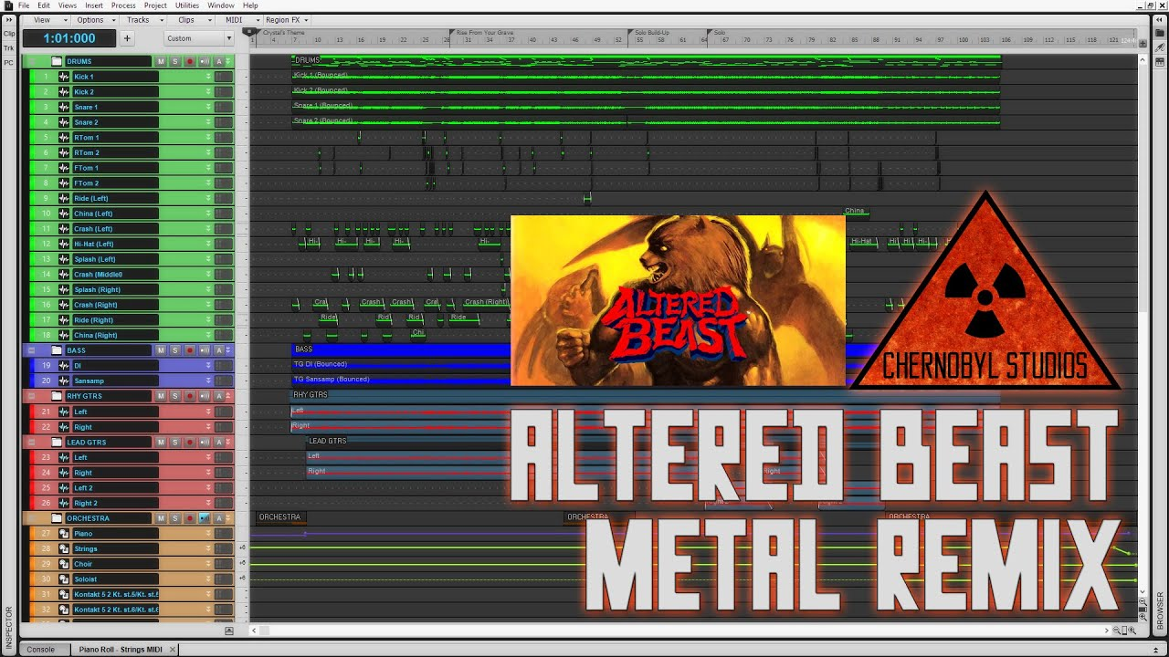 Chernobyl Studios Altered Beast Rise From Your Grave Metal
