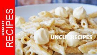 "☑️ Four Cheese Pasta Recipe ( How to Make ""4 FORMAGGI"" Four Cheese Cream Pasta ) | Uncut Recipes"