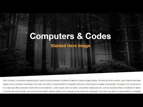 CSS Slanted/Skewed Hero Image Background   Computer Conversation thumbnail