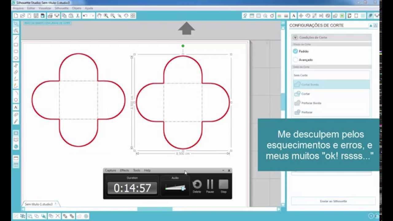 Desenhando Forminha De Doces Coreldraw X6 Silhouette Studio V3