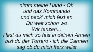 Rosenstolz - Wir Tanzen Tango Lyrics