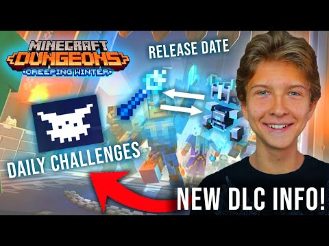 NEW DLC Info! (Release Date, Item Trading + MORE) - Minecraft Dungeons Creeping Winter DLC