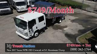 New 2017 Isuzu NPR-HD Crew Cab 14' Dump - MJ TruckNation