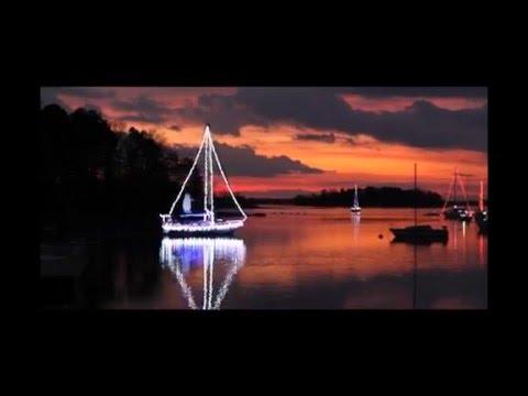 Sailing with Christmas lights - Sailing With Christmas Lights - YouTube