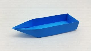 How to Make a Paper Boat (Canoe) for Kids that Floats - Origami Boat Tutorial
