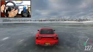 Mazda Rx7 - Forza Horizon 4 - Volante Logitech G27 - Gameplay