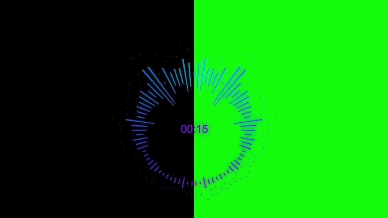 circle audio spectrum green screen black screen youtube. Black Bedroom Furniture Sets. Home Design Ideas