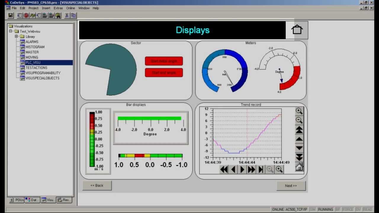 ABB PLC AC500 - Visualization capabilities