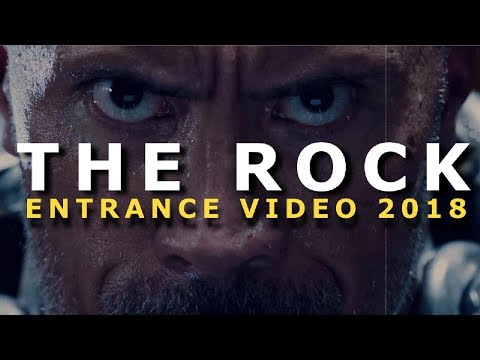 THE ROCK WWE ENTRANCE VIDEO AND THEME (2018)