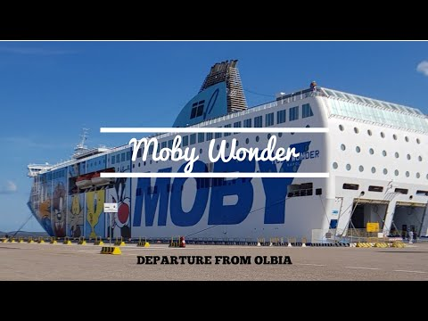 "Arrival Of Ferry ""Moby Wonder"" In Olbia"