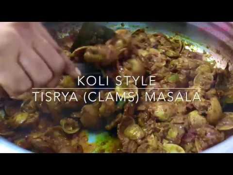 Recipe : Koli Style Tisrya (Clams) Masala