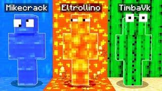 ¡ESCONDITE EXTREMO de camuflaje en MINECRAFT! 😂 El escondite en Minecraft con mods
